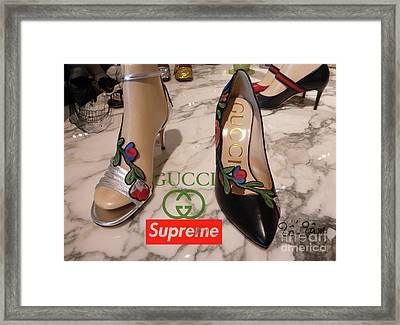 The Gucci Supreme Shoes 5 Framed Print
