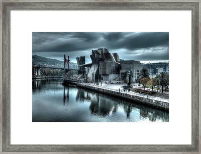 The Guggenheim Museum Bilbao Surreal Framed Print