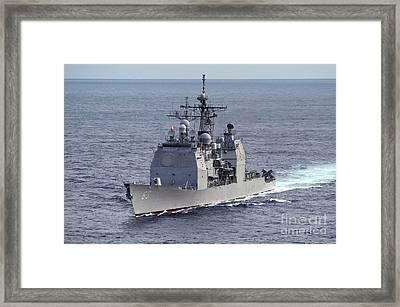 The Guided Missile Cruiser Uss Cowpens Framed Print
