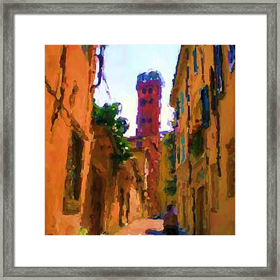 The Guinigi Tower In Lucca  Framed Print by Ozborne-Whilliamsson