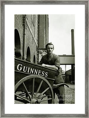 The Guinness Man Framed Print