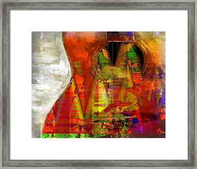 The Guitar Framed Print by Contemporary Art
