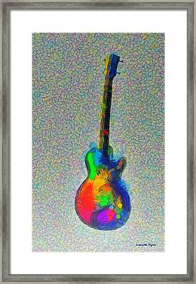 The Guitar - Da Framed Print by Leonardo Digenio