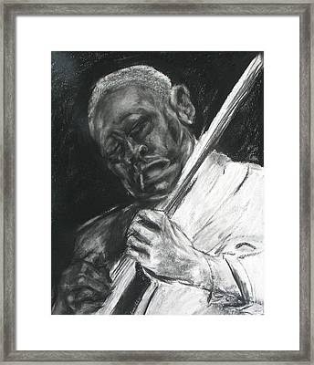 The Guitar Player Framed Print by Patrick Mills