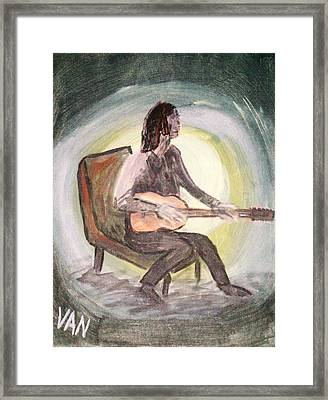The Guitar Player Framed Print by Van Winslow