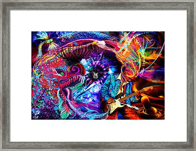 The Guitarist Framed Print by Andreas Spengler