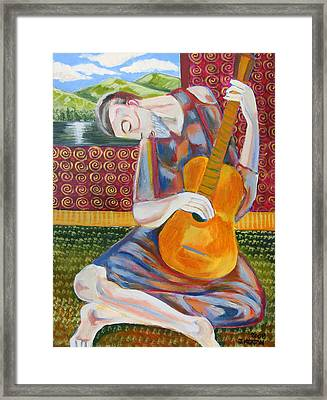 The Guitarist Framed Print by John Keaton