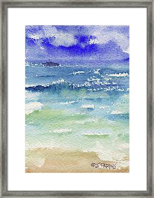 The Gulf Framed Print by Kris Parins