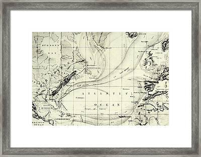 The Gulf Stream Of The Atlantic Ocean Framed Print
