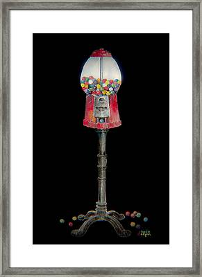 The Gumball Machine Framed Print by Arline Wagner