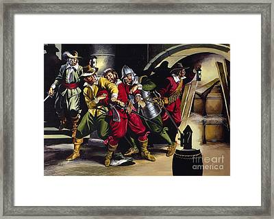 The Gunpowder Plot Framed Print by Ron Embleton