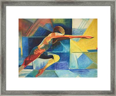 The Gymnast  Framed Print by Benedict Olorunnisomo