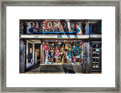 The Haight - Piedmont Boutique Store Front - San Francisco Framed Print