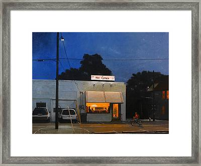 The Hair Cuttery Framed Print by Doug Strickland