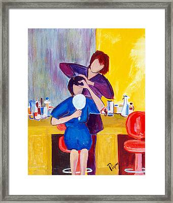 The Hair Dresser Framed Print