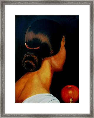The Hair   Framed Print by Manuel Sanchez