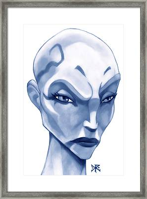 The Hairless Harpy Aka Asajj Ventress Framed Print