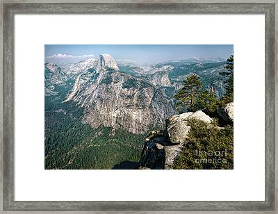 The Half Dome Yosemite Np Framed Print by Daniel Heine