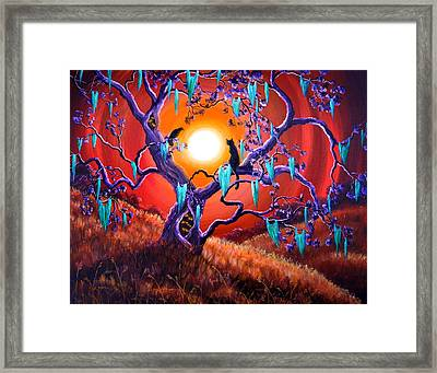 The Halloween Tree Framed Print by Laura Iverson