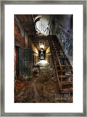 The Hallway Of Broken Dreams - Eastern State Penitentiary - Lee Dos Santos Framed Print