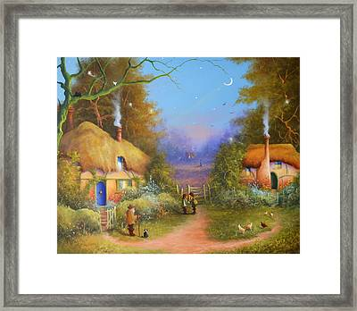 The Hamlet Of Gnarl Mid Summers Eve Framed Print
