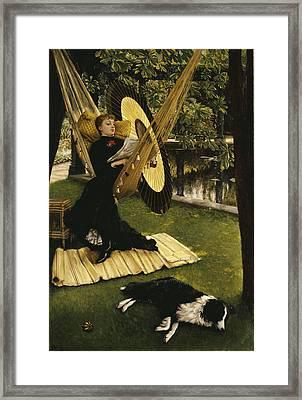 The Hammock Framed Print by James Jacques Joseph Tissot