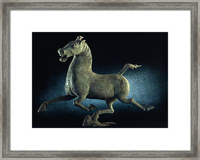 The Han Dynasty Famous Flying Horse Framed Print by James L. Stanfield
