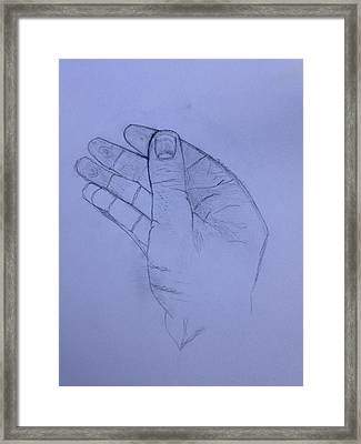 The Hand From The Light Behind The Universe Framed Print by Contemporary Michael Angelo