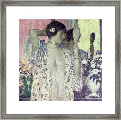 The Hand Mirror Framed Print