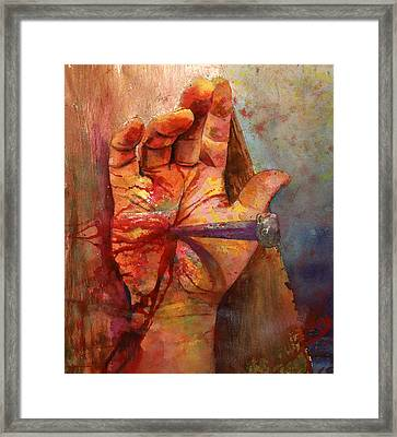 Framed Print featuring the painting The Hand Of God by Andrew King