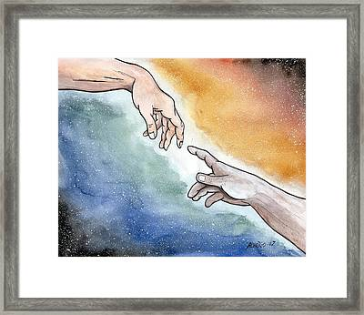 The Hand Of God Framed Print by Edwin Alverio