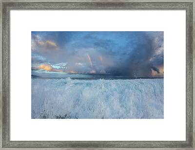 The Hand Of God Framed Print by Sean Davey