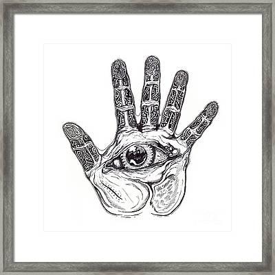 The Hand Of Wisdom Framed Print by Daniel Brunner