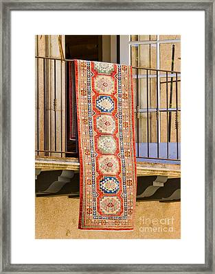 The Hanging Carpet Of Sedona Framed Print