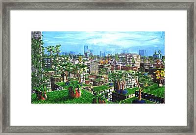 The Hanging Gardens. Framed Print by Samuel Miller