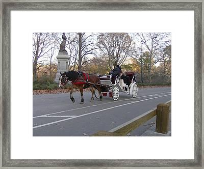 The Hansom Cab Framed Print