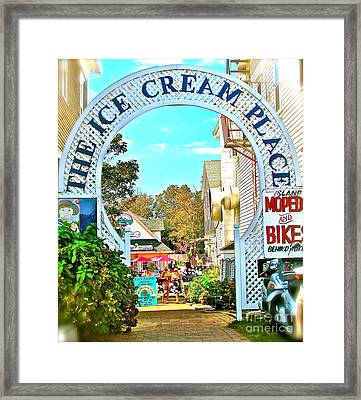 The Happiest Place On Earth Framed Print by Beth Saffer