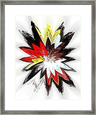 The Happy Asteroids Framed Print