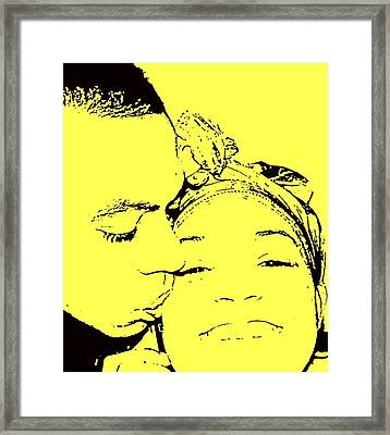 The Happy Couple  Framed Print by D R TeesT