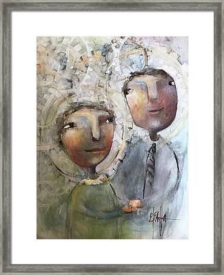 The Happy Couple Framed Print