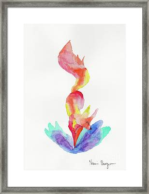 The Happy Fox  Framed Print