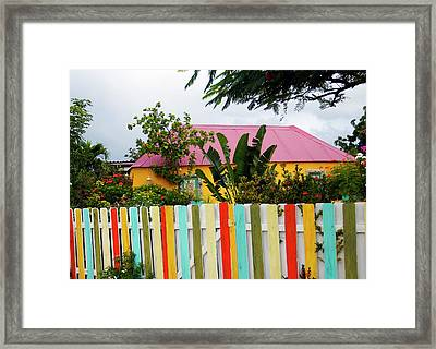 Framed Print featuring the photograph The Happy House, Island Of Curacao by Kurt Van Wagner