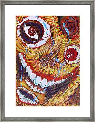 The Happy Miserable Framed Print by Sam Hane
