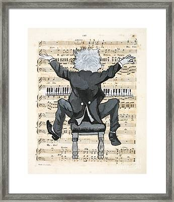 The Happy Pianist Framed Print by Paul Helm