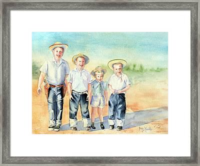 The Happy Wranglers Framed Print