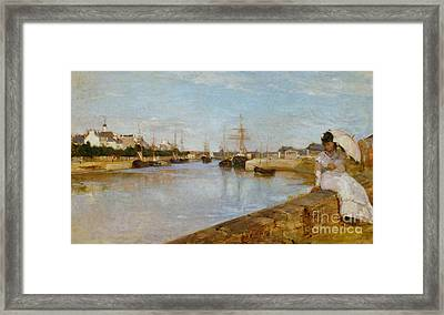 The Harbor At Lorient Framed Print by Celestial Images