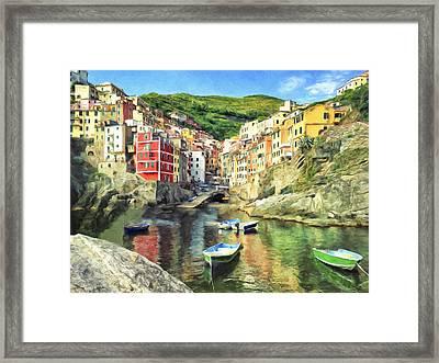 The Harbor At Rio Maggiore Framed Print
