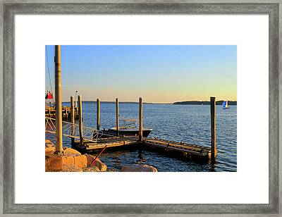 Framed Print featuring the photograph The Harbor Bristol Rhode Island by Tom Prendergast