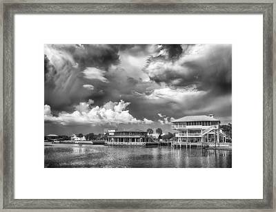 Framed Print featuring the photograph The Harbor by Howard Salmon