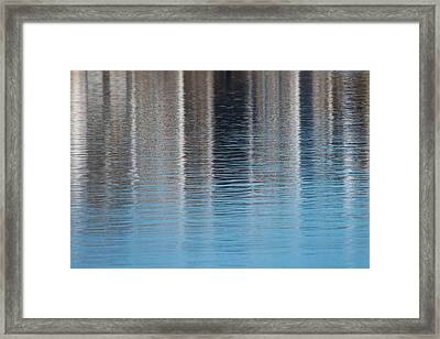 Framed Print featuring the photograph The Harbor Reflects by Karol Livote